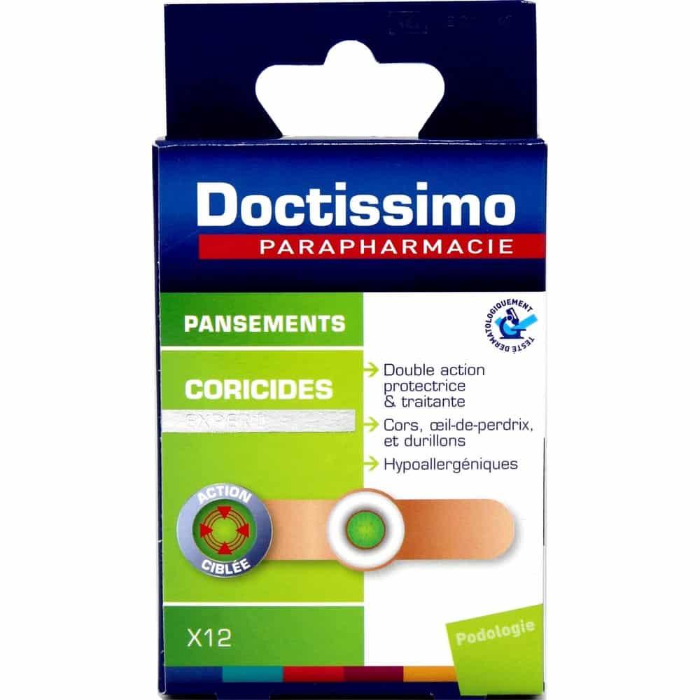 DOCTISSIMO - Pansements Coricides Pour Cors Aux Pieds et Durillons x 12