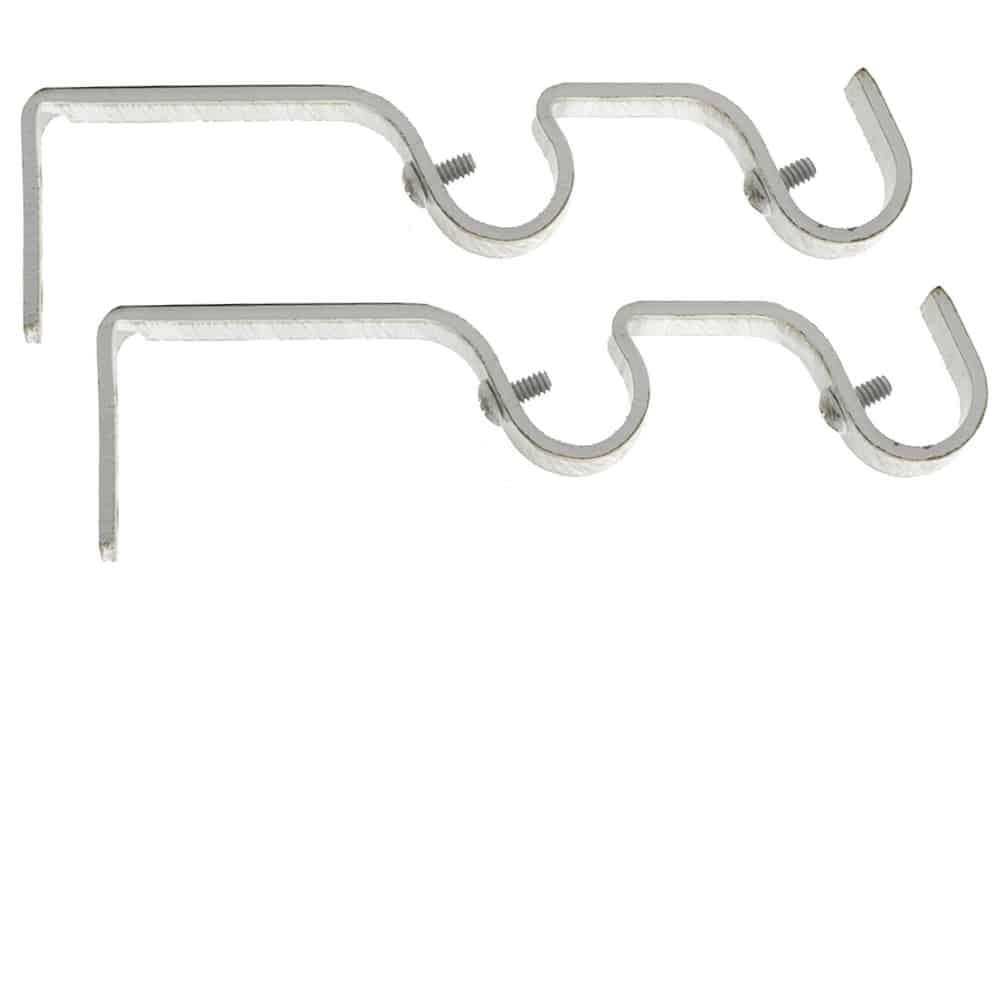 Supports doubles gouttières pour tringles à rideaux Ø 19 mm