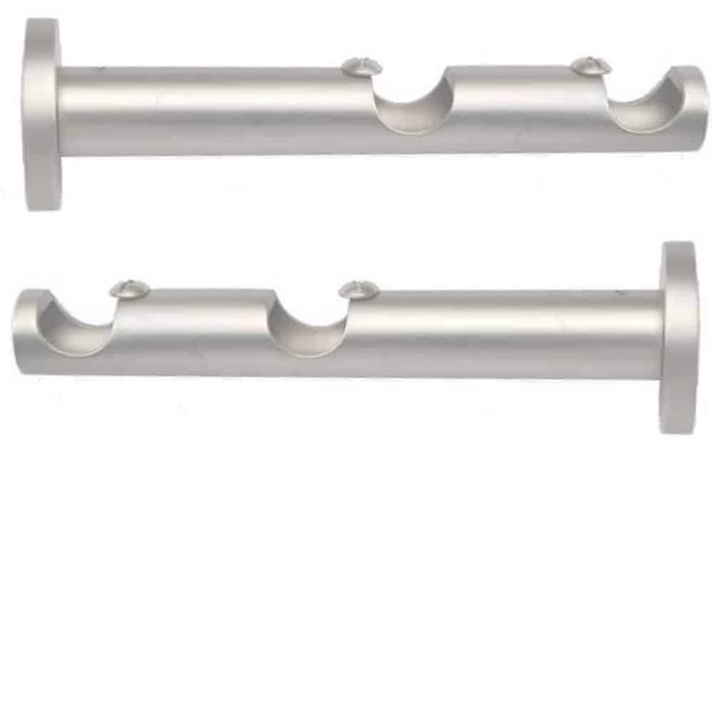 Supports doubles modernes pour tringles à rideaux Ø 19 mm