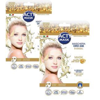 ACTY MASK - 2 masques tissu hydrogel à l'or 24 K