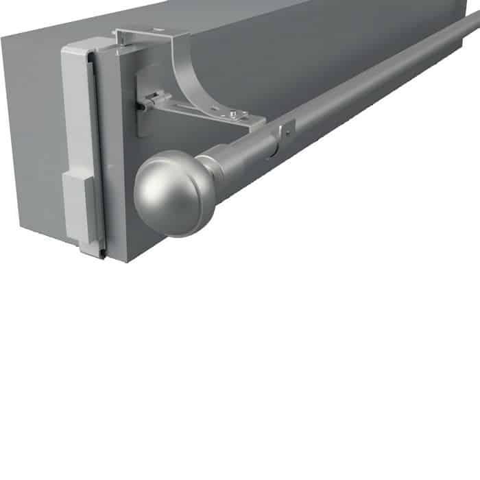 Cette photo représente le produit : 2 supports extensibles latéraux de tringle pour caisson volet roulant Ø20 Ø28 mm